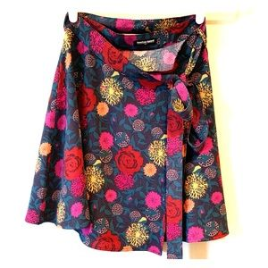 Rose Garden American Apparel Wrap Mini Skirt